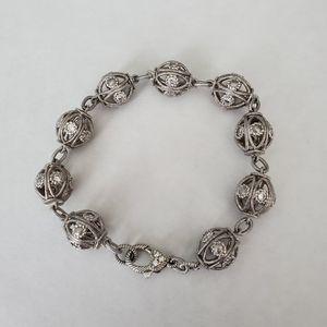 Judith Ripka Filigree Ball Link Bracelet